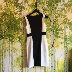 Cynthia Rowley Black and white shift dress